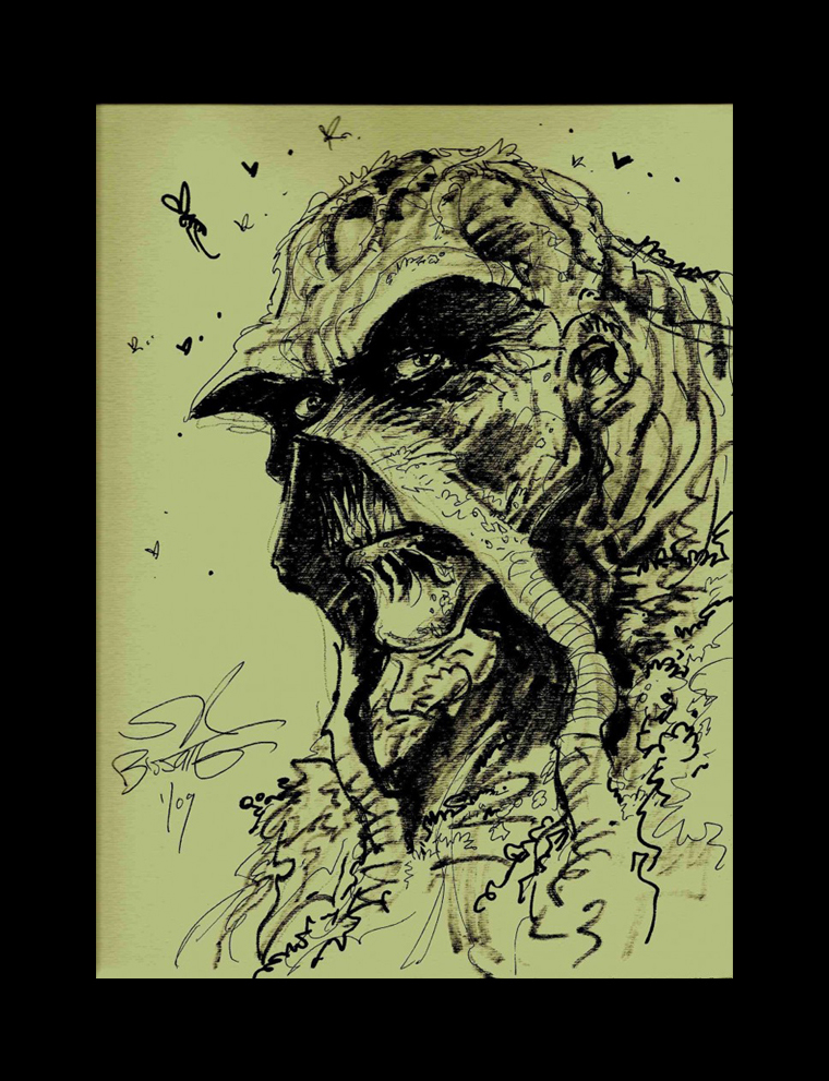 Swamp Thing Sketch… SOLD!
