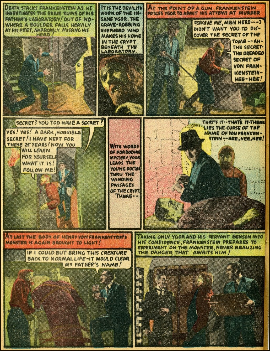 "Celebrating Dick Briefer's Frankenstein with Movie Comics ""Son of Frankenstein,"" Part 2!"