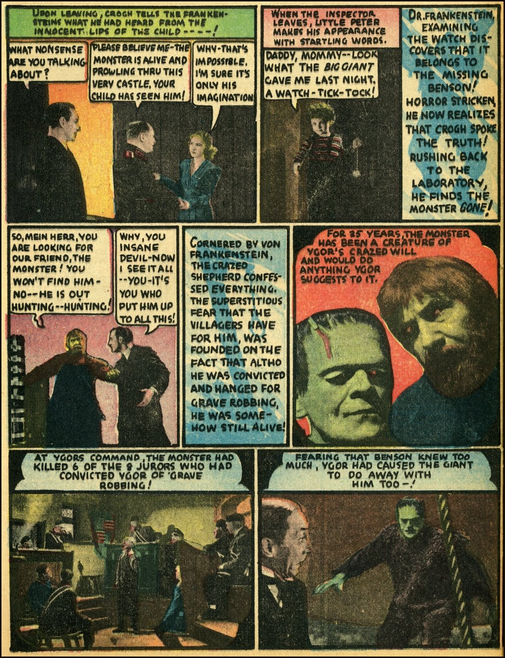 "Celebrating Dick Briefer's Frankenstein with Movie Comics ""Son of Frankenstein,"" Part 3!"