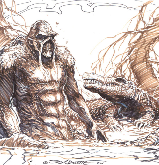Oversized Swamp Thing Study/Sketch for Sale…