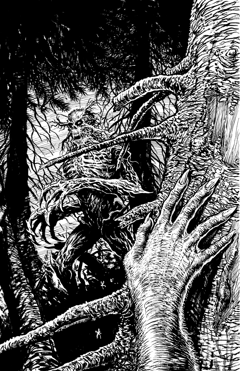 Bog: Swamp Demon Cover Art Original for Sale!