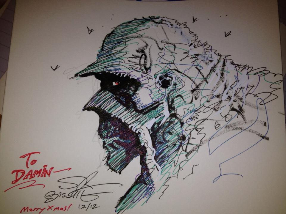 Want a FREE Swamp Thing Sketch?